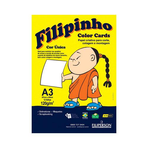 PAPEL FILIPINHO COLOR CARDS 12FLS A3 120GR BR R.01030    PCT UNID