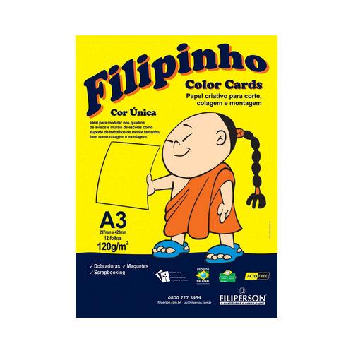 PAPEL FILIPINHO COLOR CARDS 12FLS A3 120GR AM R.01031 || PCT UNID