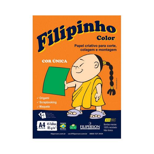 PAPEL FILIPINHO COLOR A4 85G VERDE 45FLS R.01044    PCT C/45