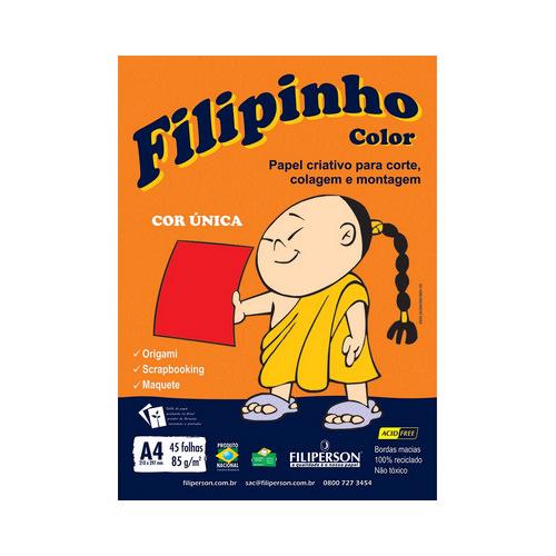 PAPEL FILIPINHO COLOR A4 85G VERMELHO 45FLS R.01046 || PCT C/45