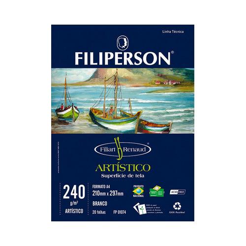 BLOCO FILIPERSON ARTISTICO A4 240GRS 01074 BRANCO || PCT C/5