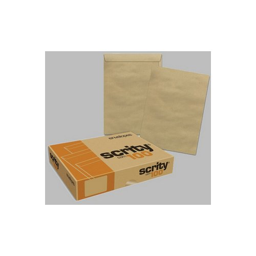ENVELOPE KRAFT NATURAL 24X34 80GR  R.SKN 334 || CAIXA C/100
