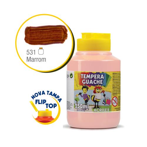 TEMPERA GUACHE 02025 250 ML 531 MARROM || CAIXA C/3