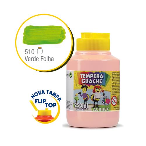 TEMPERA GUACHE 02023 250 ML 510 VERDE FOLHA || CAIXA C/3