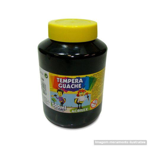 TEMPERA GUACHE 02050 500 ML 520 PRETO    IND UNID