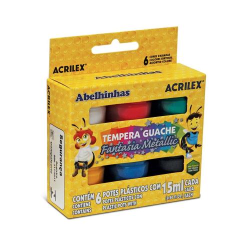 TEMPERA GUACHE 15 ML C/6 FANTASIA REF.02002 || IND UNID