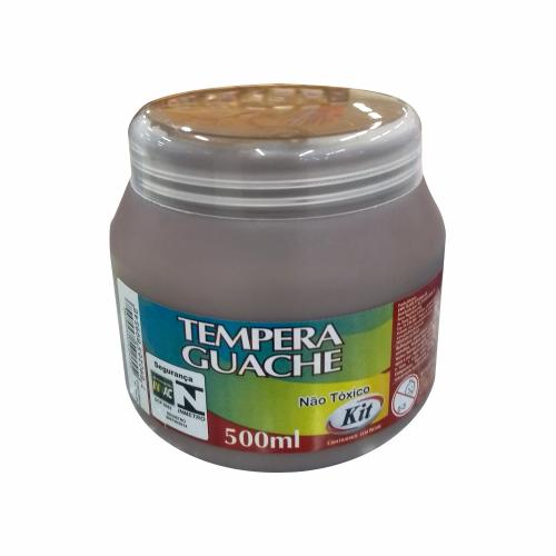TEMPERA GUACHE 500 ML KIT MARROM || IND UNID