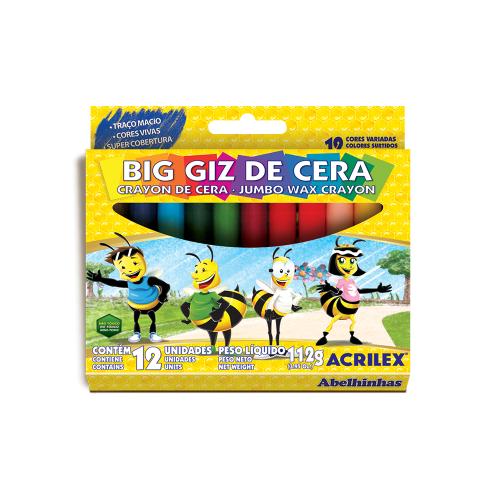 GIZAO DE CERA 12 CORES SORTIDO R.09111