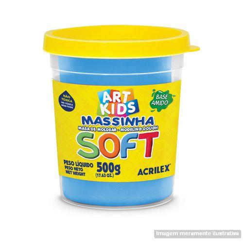 MASSA P/MODELAR SOFT 500GR 109 AZUL