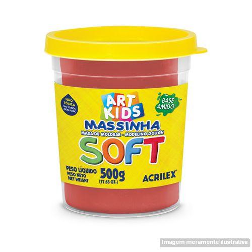 MASSA P/MODELAR SOFT 500GR 103 VERMELHO