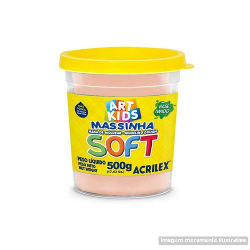 MASSA P/MODELAR SOFT 500GR 538 AMARELO PELE