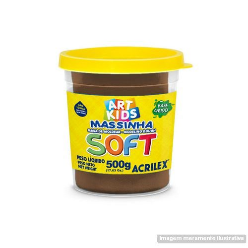 MASSA P/MODELAR SOFT 500GR 814 CHOCOLATE