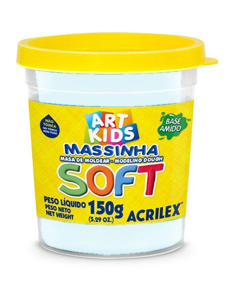 MASSA P/MODELAR SOFT COPO 150GR 418 BRANCO