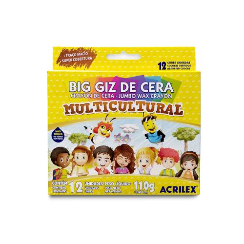 GIZAO DE CERA 12 CORES MULTICULTURAL 09122