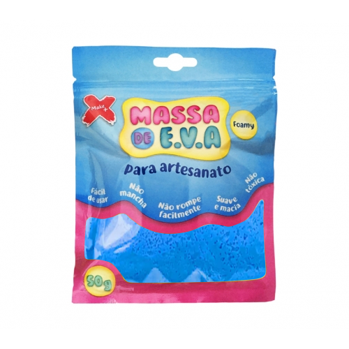 MASSA EVA P/ARTESANATO 50GRS AZUL CLARO R.13001 || UNIDADE