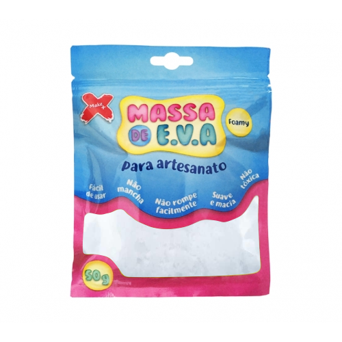 MASSA EVA P/ARTESANATO 50GRS BRANCO R.13003 || UNIDADE