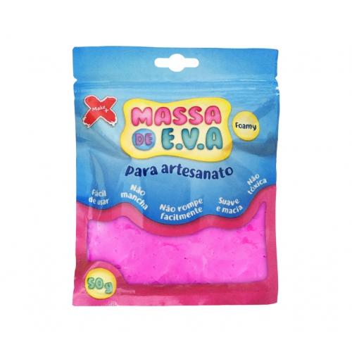 MASSA EVA P/ARTESANATO 50GRS ROSA R.13008 || UNIDADE