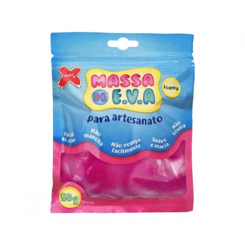 MASSA EVA P/ARTESANATO 50GRS PINK R.13015 || UNIDADE
