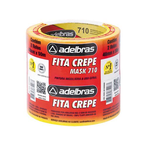 FITA ADESIVA 48X50 CREPE ADELBRAS R.0615000009 || PCT C/2