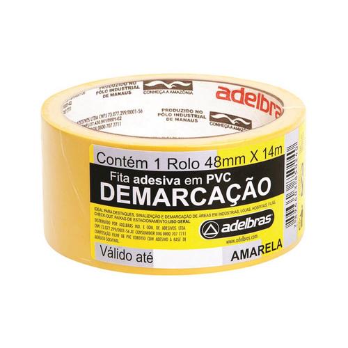 FITA DEMARCACAO DE SOLO 48X14 AMARELA R.803050004 || IND UNID
