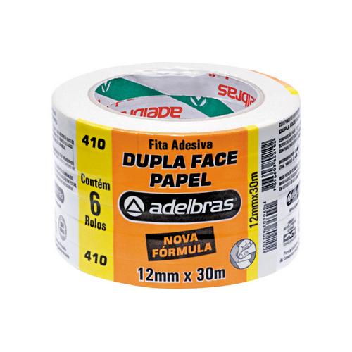 FITA ADESIVA 12X30 DUPLA FACE PAPEL 0813000001 || PCT C/6