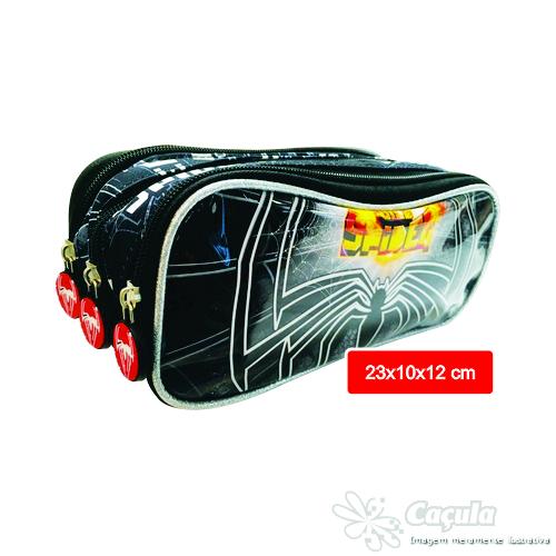 ESTOJO PORTA LAPIS KIT REF.DX10113/3 TRIPLO SPIDER | ATACADO-IND UNID