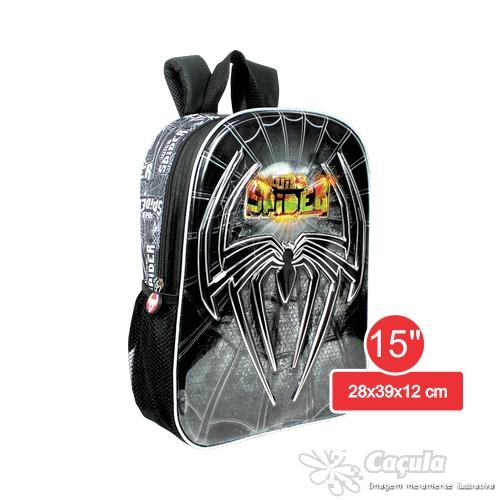 MOCHILA INFANTIL KIT SPIDER 15  8D 10371-8D | ATACADO-IND UNID