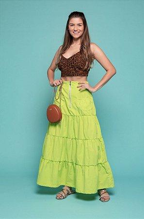 Saia Alice Verde Limão