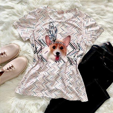 Blusa Cachorro de Penachos