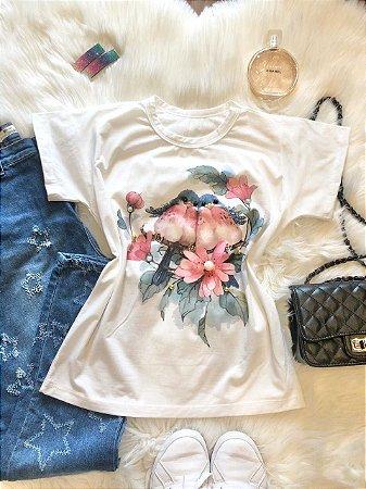 T-Shirt Casal de Passarinhos