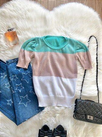 Blusa Clara Tricolor Tiffany