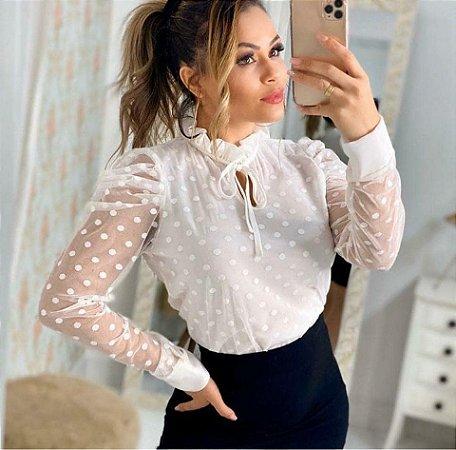 Blusa Laura Branca