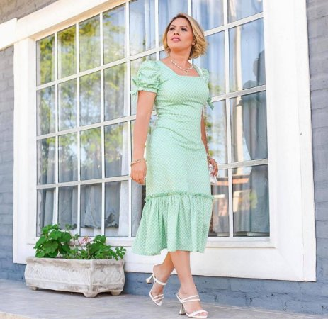 Vestido Margarida Verde