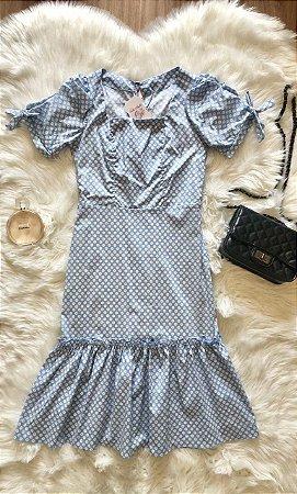 Vestido Margarida Azul