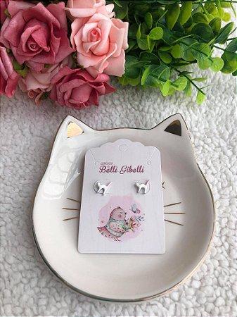 Brinco Mini Gatinho Branco