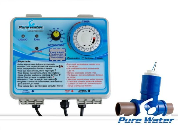 Ionizador Purewater Ag 155 - Tratamento Automático De Piscinas Sem Cloro Até 155 Mil Litros