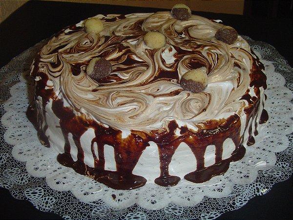 Torta Casadinho – Brigadeiro Branco e Negro