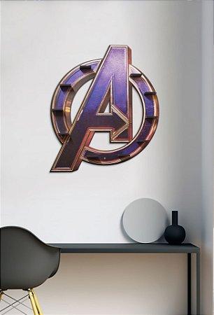 Quadro-Prateleira Avengers Logo