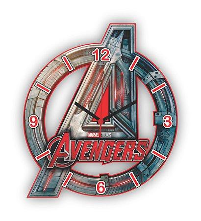 Relógio de Parede Avengers Logo