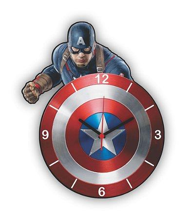 Relógio de Parede Avengers Capitão América