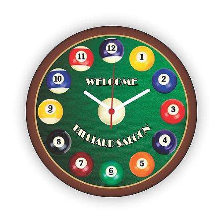 Relógio de Parede BILHAR