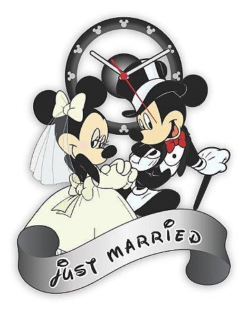Relógio de Parede MICKEY E MINNIE - JUST MARRIED