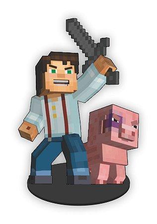 Boneco Mini Toten JESSE Minecraft
