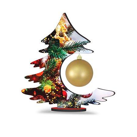 Árvore de Natal de Mesa - Brilhos Dourados