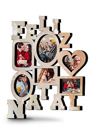 Painel de fotos Natalino Personalizado MDF