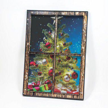 Quadro-Janela - Árvore com Presentes