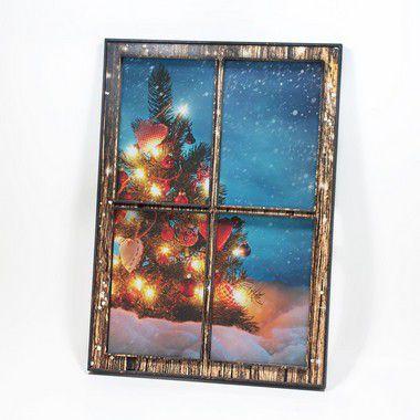 Quadro-Janela - Árvore de Natal