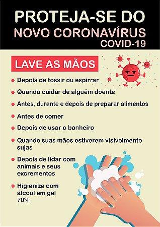 Placa Coronavírus - Proteja-se