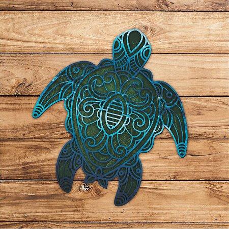 Escultura Tartaruga para Decoração de Parede