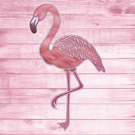 Escultura Flamingo para Decoração de Parede